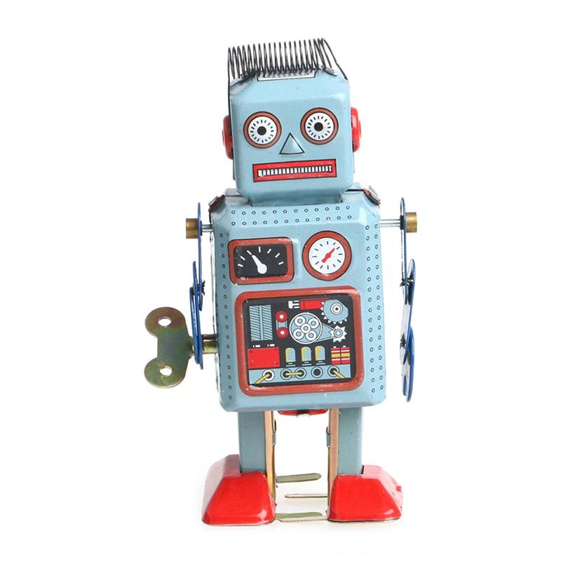 2020 nuevo (OOTDTY) 2017 Vintage mecánico de cuerda Robot de lata juguete...