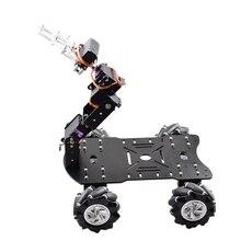 Moins cher Mobile 80mm 4WD Mecanum roue Robot Kit de voiture avec 4dof Robot bras avec pince griffe pour Arduino bricolage tige jouet pièces