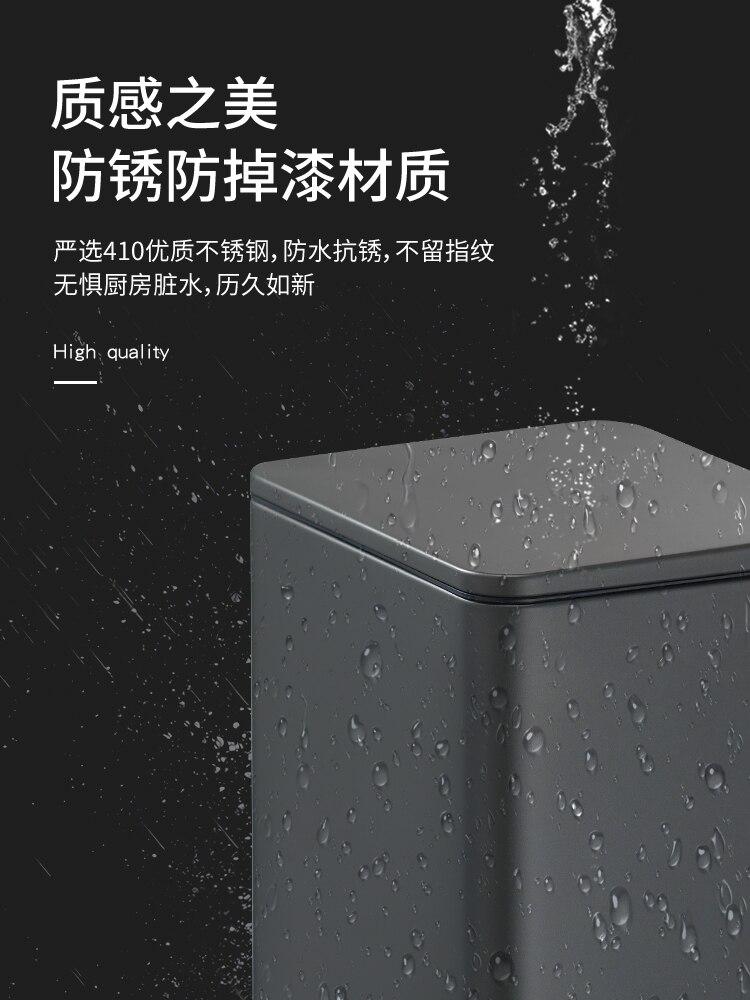 Nordic Modern Trash Bin Bedroom Luxury Stainless Steel Kitchen Trash Can Office Storage Poubelle De Cuisine Storage BC50LJ enlarge