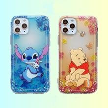 Cute Stitch Case for iPhone 11 Pro Xs Max XR 7 8 X 6s Plus Cases Bear Cartoon Minnie Soft TPU Silicone Back Cover