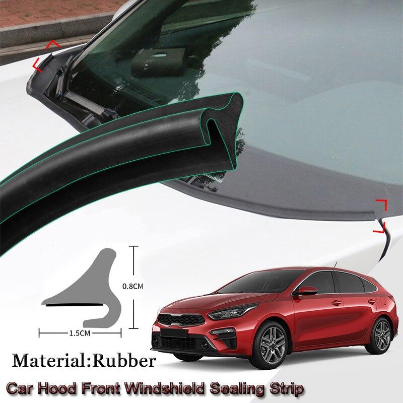 DIY tira de sellado de coche Windshied Spoiler Filler proteger borde burlete tiras pegatinas Auto accesorios para Kia Cerato 2010-2020