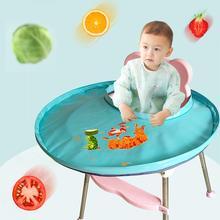 Mantel de Color sólido para niños, mantel de tela verde, bandeja de comedor para bebés, antimanchas de tela