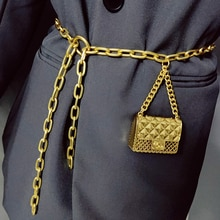 Fashion Luxury Designer Women Chain Belts for Pants Dress Mini Vintage Waist Gold Metal Bag Waistband Body Jewelry Accessories