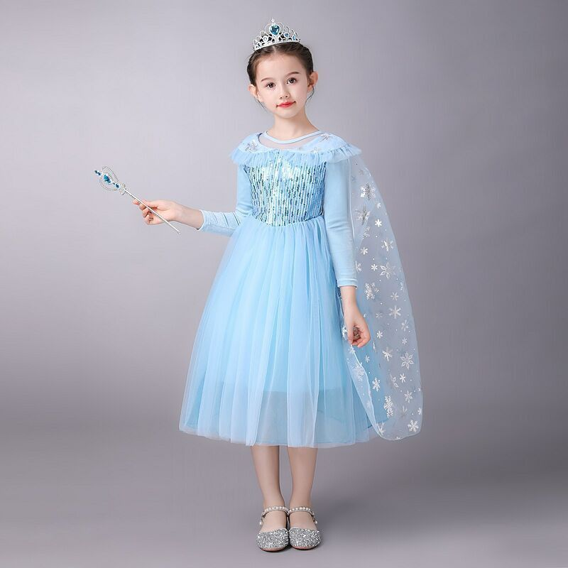 Disney Aisha Princess Dress Festival Dance Dress Frozen Princess Long Sleeve Little Girl Skirt Aisha Dress Dress Dress фото