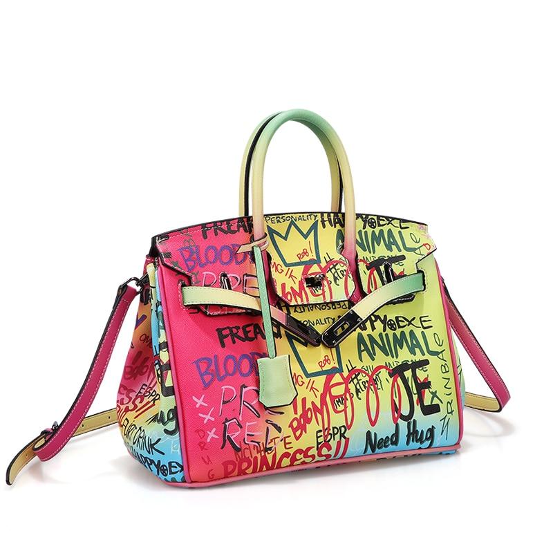 محفظة نسائية مطبوعة بألوان مختلفة ، حقيبة كتف ، أنيقة ، عصرية ، غير رسمية ، للحفلات ، 2021