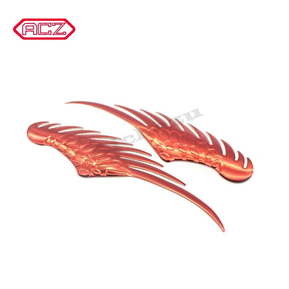 ACZ 3D Dimensional de aleación de Metal rojo dorado Color coche pegatinas Angel Hawk alas emblema insignia pegatina coche Logo