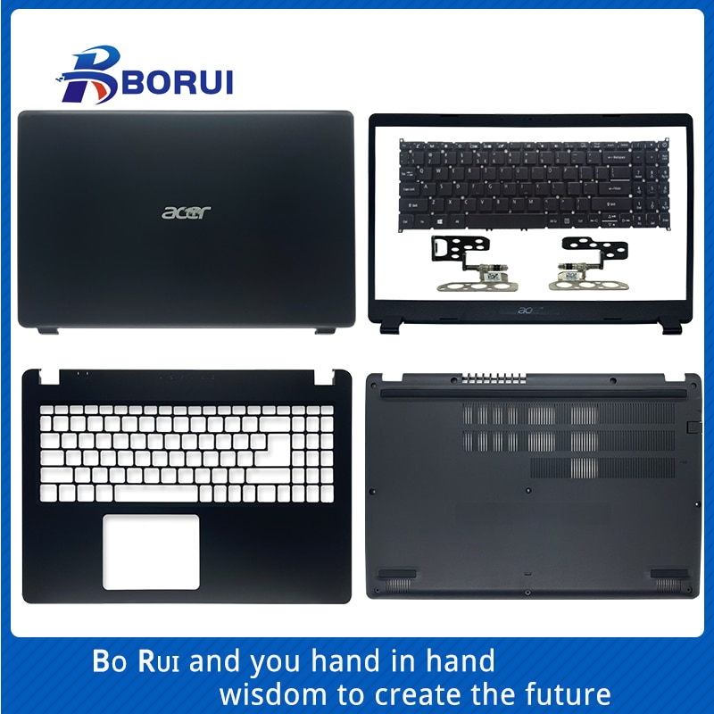 LCD de ordenador portátil cubierta/bisel frontal/Palmrest/teclado/cubierta inferior bisagra para Acer Aspire 3...