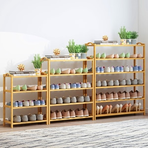 Multi-layer Shoes Racks Simple Shoe Rack Bamboo Shoe Cabinet Household Dormitory Fashion Dustproof Shoe Shelf Flower Stands