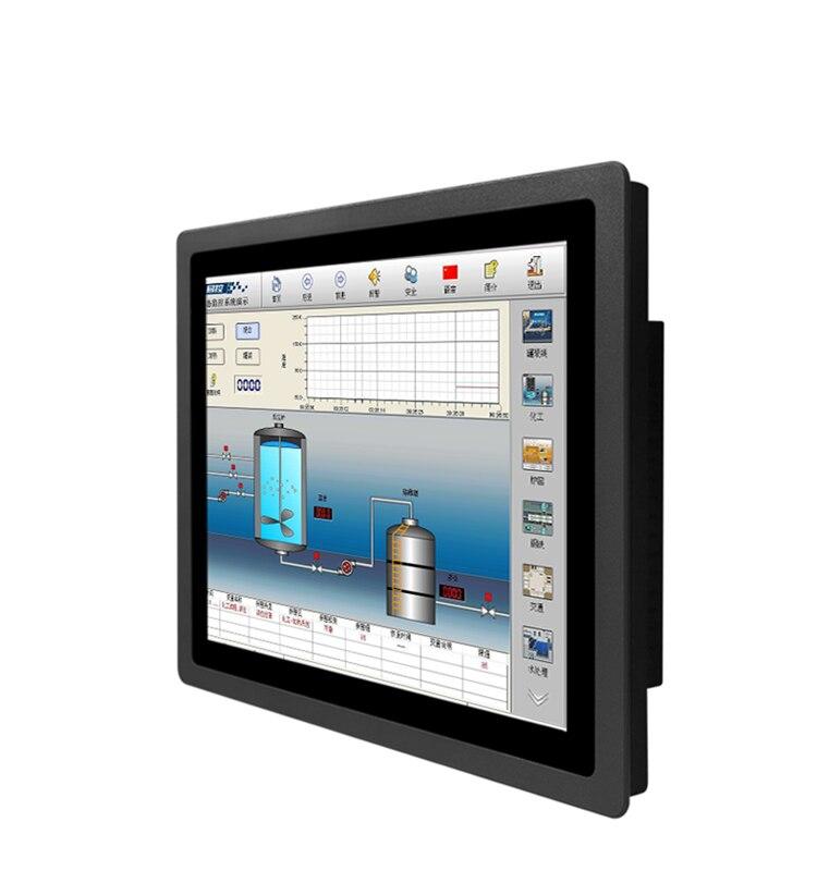 1000 نيت جدار جبل جزءا لا يتجزأ من 12 بوصة عالية السطوع الصناعية IP65 HD USB lcd شاشة تعمل باللمس فتحة