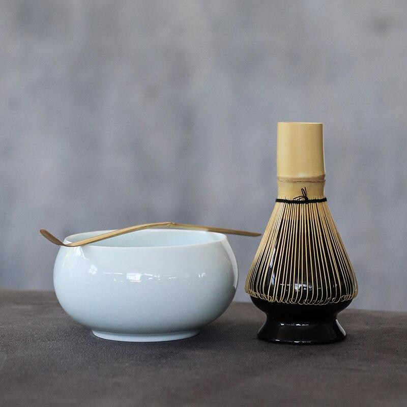 Juegos de matcha tradicional LUWU, batidor de matcha de bambú natural, cuenco de matcha ceremonial, juego de té japonés
