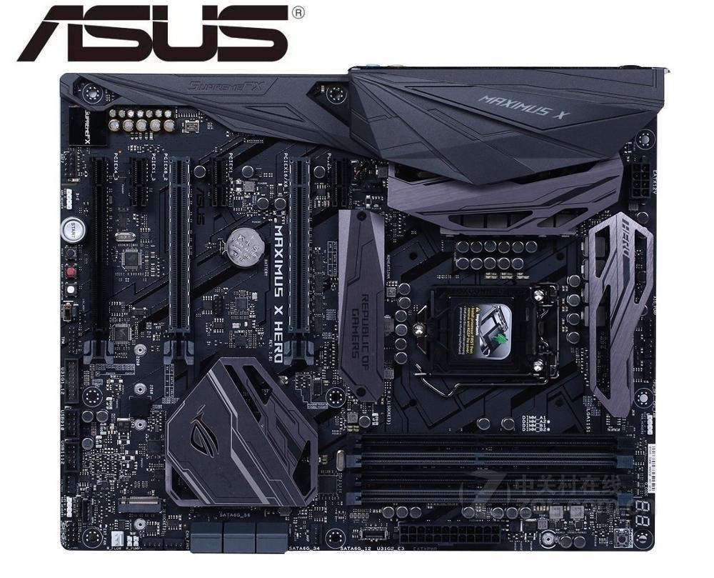 Placa base original para ASUS ROG MAXIMUS X HERO DDR4 LGA 1151 USB2.0 USB3.0 USB3.1 64GB Z370, placa base de escritorio usada