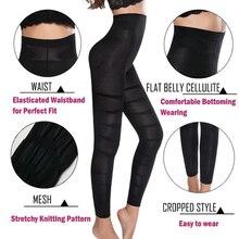 Taille haute Shapewear Anti Cellulite Compression Leggings jambe minceur corps Shaper ventre contrôle collants culotte cuisse plus mince
