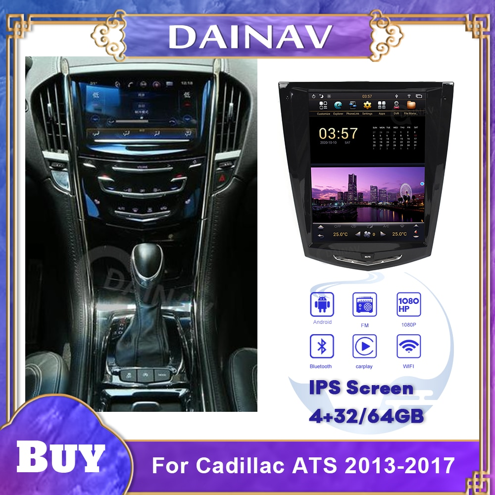 2 Din Android Car Radio HD Autoradio Multimedia Player For Cadillac ATS 2013-2017 Car Stereo GPS Nav