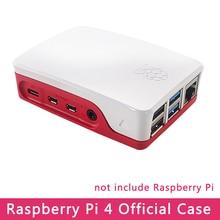 Funda oficial Original Raspberry Pi 4 Carcasa de plástico blanco y rojo ABS para Raspberry Pi 4 Modelo B