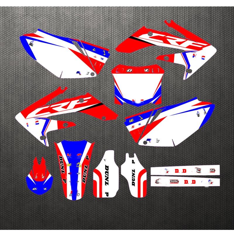 04-09 لهوندا CRF 250 CRF250R شحن مخصصة ملصق الشارات Kit الرسم CRF250 2004 2005 2006 2007 2008 2009