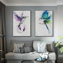 Aves voladoras Color alas abstractas brillantes lienzo pintura carteles modernos e impresiones arte de pared cuadros para la decoración del hogar de la sala de estar