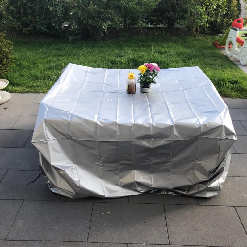 19 tamaños impermeables al aire libre muebles de jardín y patio cubre la lluvia nieve silla cubre para sofá Mesa silla cubierta a prueba de polvo
