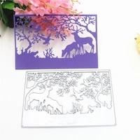 metal cutting die of forest deer scrapbooking mold paper cards postcard handmade craft stencil album handcraft embossing moulds