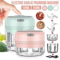 100250ml mini electric garlic grinder portable food press mincer seasoning masher spice chopper kitchen accessories