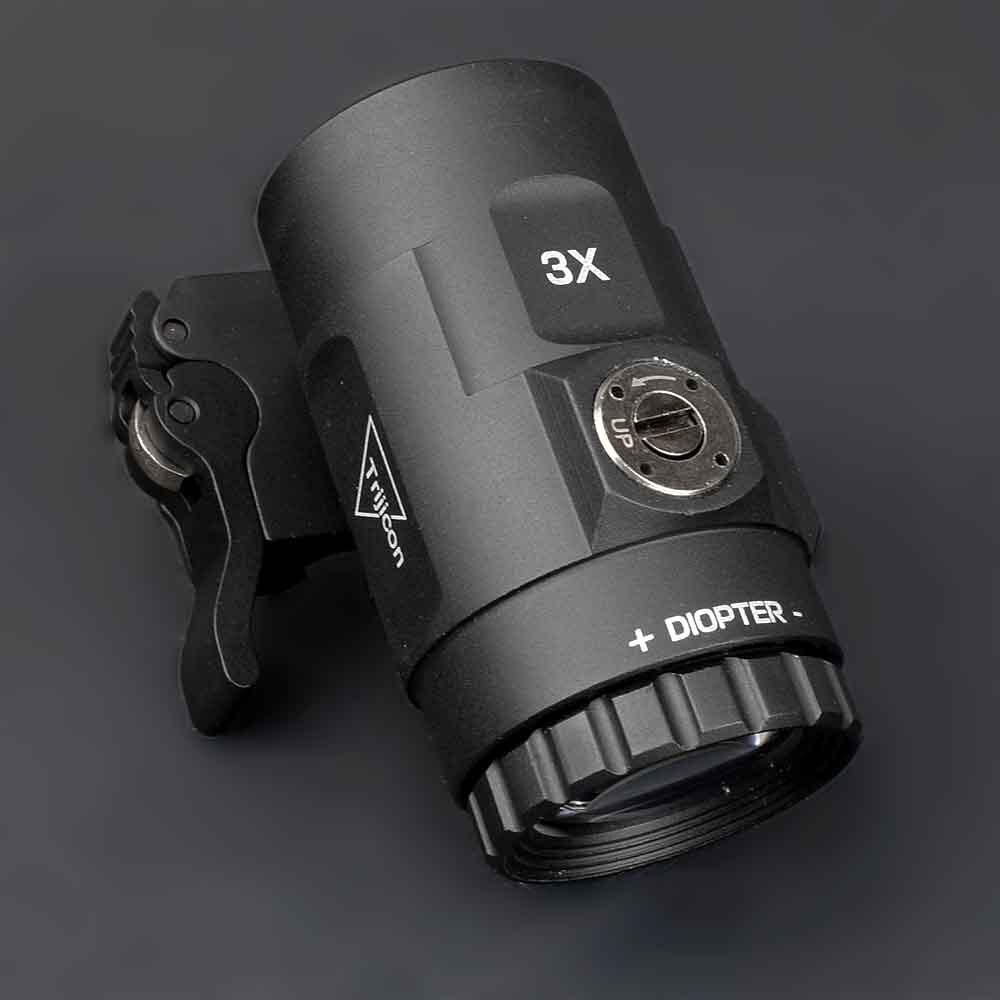 Tático 3x lupa escopo vista com interruptor para o lado sts qd montar apto para 20mm ferroviário rifle arma caça acessórios
