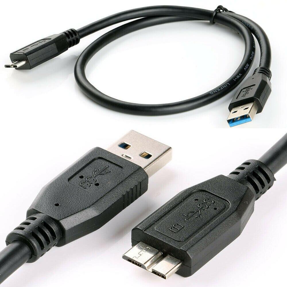 Cable de datos USB 3,0 negro para disco duro WD My Passport,...