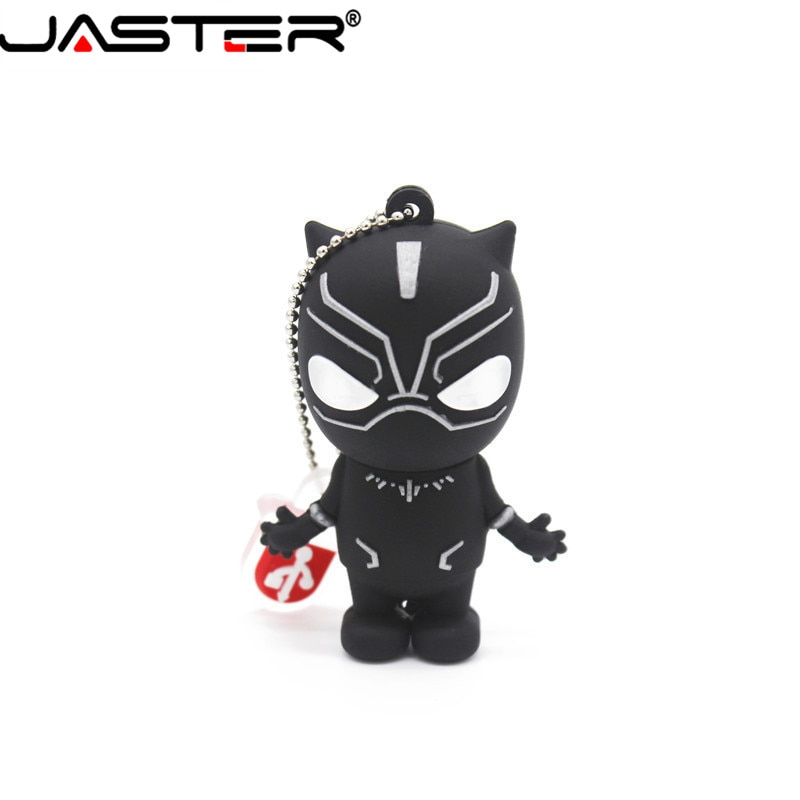 JASTER Marvel Comics Черная пантера Человек-паук Дэдпул USB 2,0 Флешка Миньоны карта памяти Флешка 4 ГБ 8 ГБ 16 ГБ 32 ГБ 64 ГБ подарок