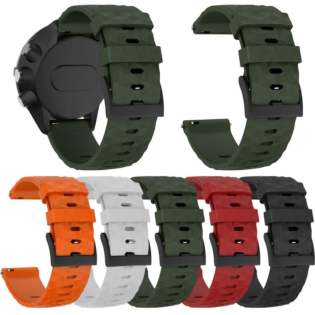 Para Suunto 9/9 Baro reloj de cobre brazalete de silicona deportivo correa de muñeca 2019 venta al por mayor correa de reloj inteligente