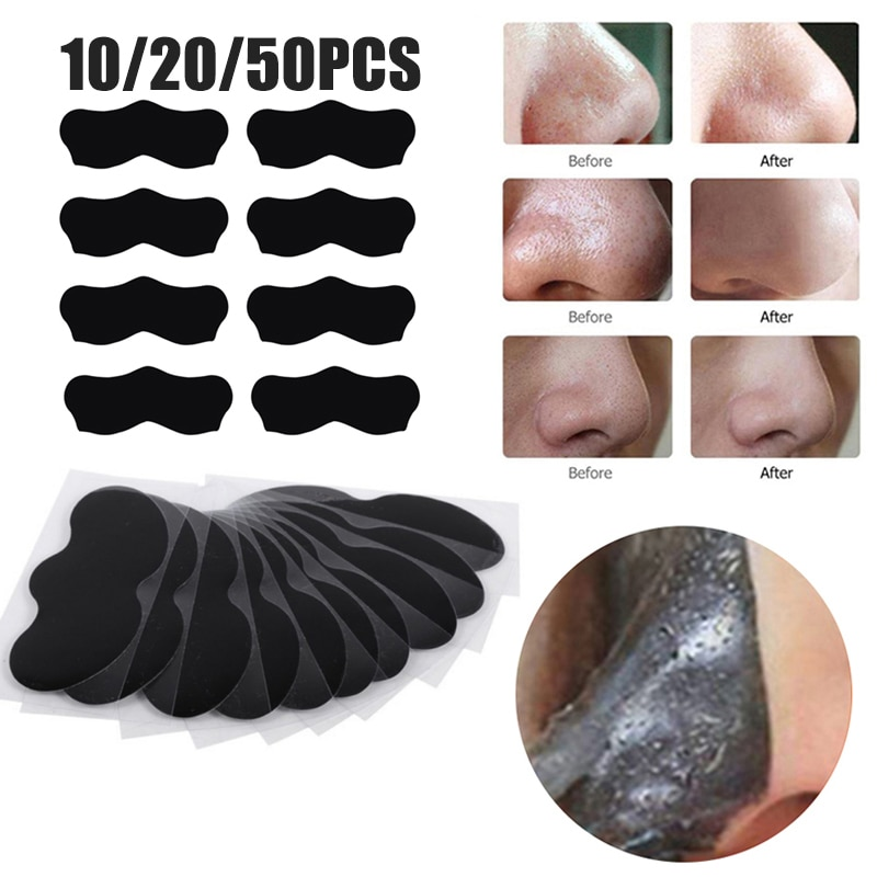 Nose Blackhead Remover Sticker 5-50pc Acne Treatment Mask Nose Sticker From Black Dots Cleaner Nose