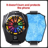 portable mobile phone radiator l05 silent glare fan with led screen to display the phone temperature radiator for iphonexiaomi