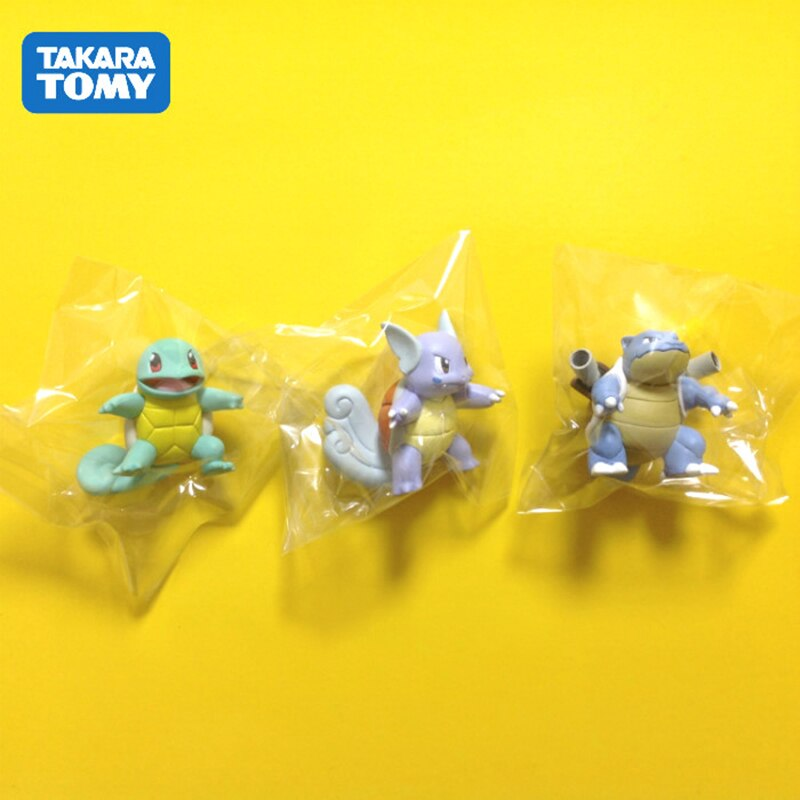 Tomy Pokemon GO Action Figure Model Pokemon Squirtle Wartortle Blastoise MC Series Model Toy Gifts