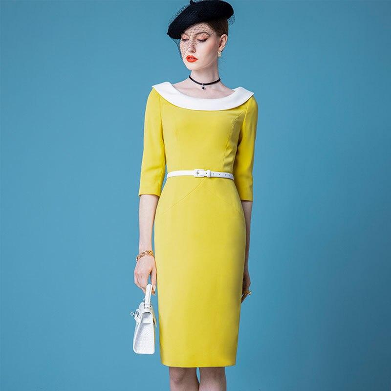 الراقية المشاهير الفرنسية ريترو فستان المرأة فستان الربيع 2021 جديد مزاجه سليم تنّورة مجسّمة