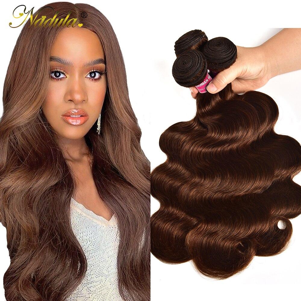#4 farbe Körper Welle Haar 1/3/4 Bundles Remy Menschenhaar-webart Brasilianische Haar Körper Weben Bundles Doppel Schuss 28 30 zoll