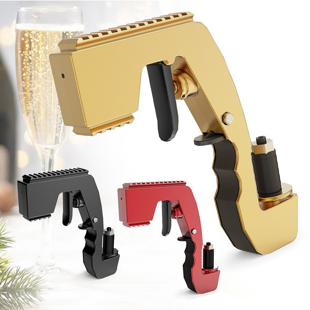 Champagne Wine Sprayer Squirt Gun Bottle Beer Vacuum Stopper Shoot Drinking Ejector Feeding Party Club Bar Game Kitchen Machine