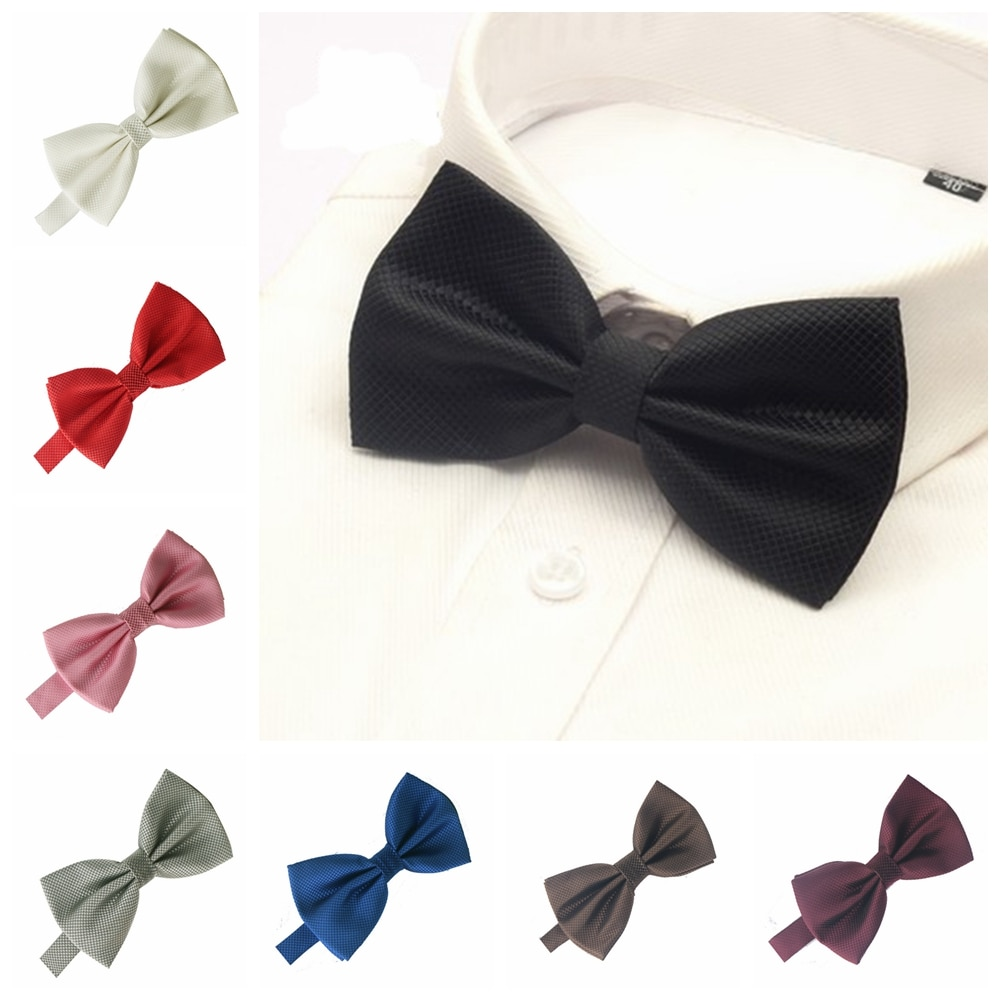 Men Bowtie For Mens Bow tie Solid Bowties Black Bowtie Gold Bow Tie Red Green Pink Blue White Bow Ties Men Classic недорого