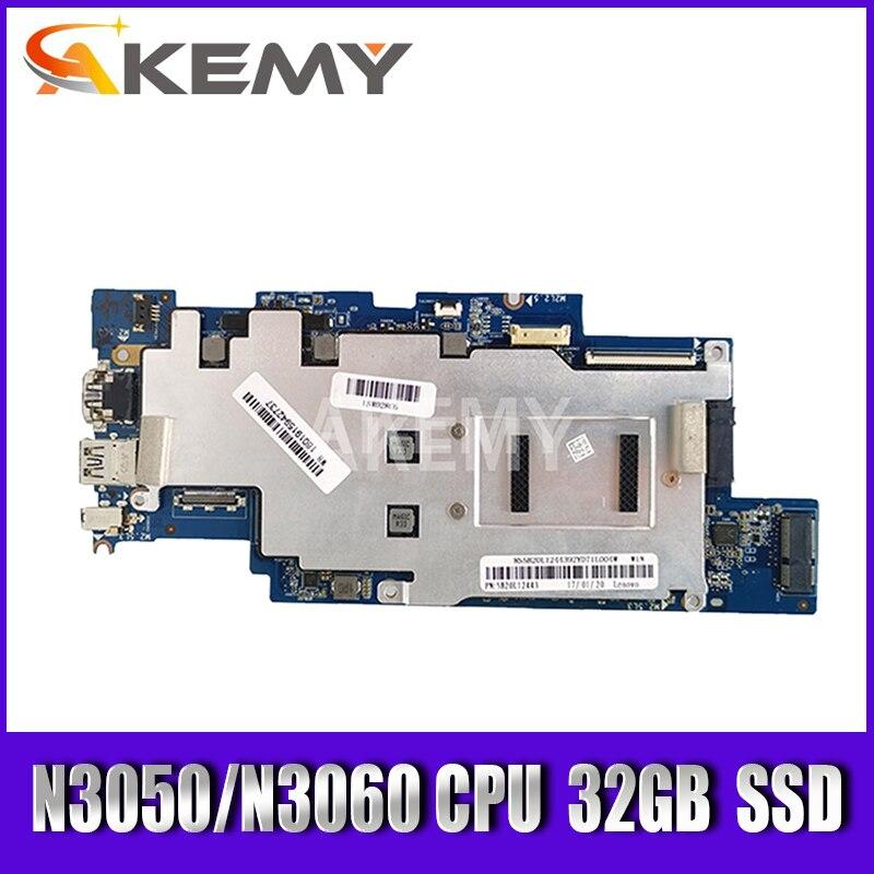 5B20L63294 For 100S-14IBR Lenovo IdeaPad 100S-14IBR 1501B_01_01 لوحة الأم للكمبيوتر المحمول N3050/N3060 CPU 4G RAM 32GB SSD