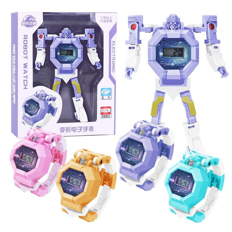 Juguetes para niños reloj de pulsera de transformación de Robot juguete gadgets de juguete electrónico regalo de cumpleaños para niños juguetes de educación en bloques