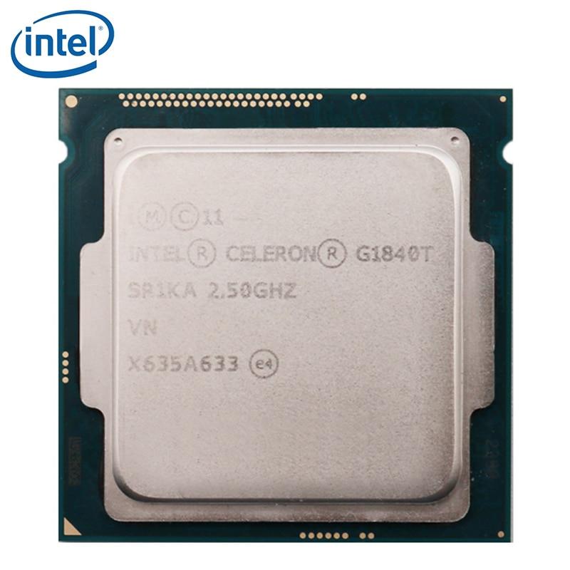 معالج Intel Celeron G1840T ، 2.5 جيجاهرتز ، LGA 1150 35 واط ثنائي النواة 35 واط ، اختبار 100% ٪ ، يعمل