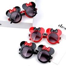 Disney Mickey Minni Mouse Children Clamshell Shaped Sunglasses Cartoon Bowknot Anti-UV Fashion Girl