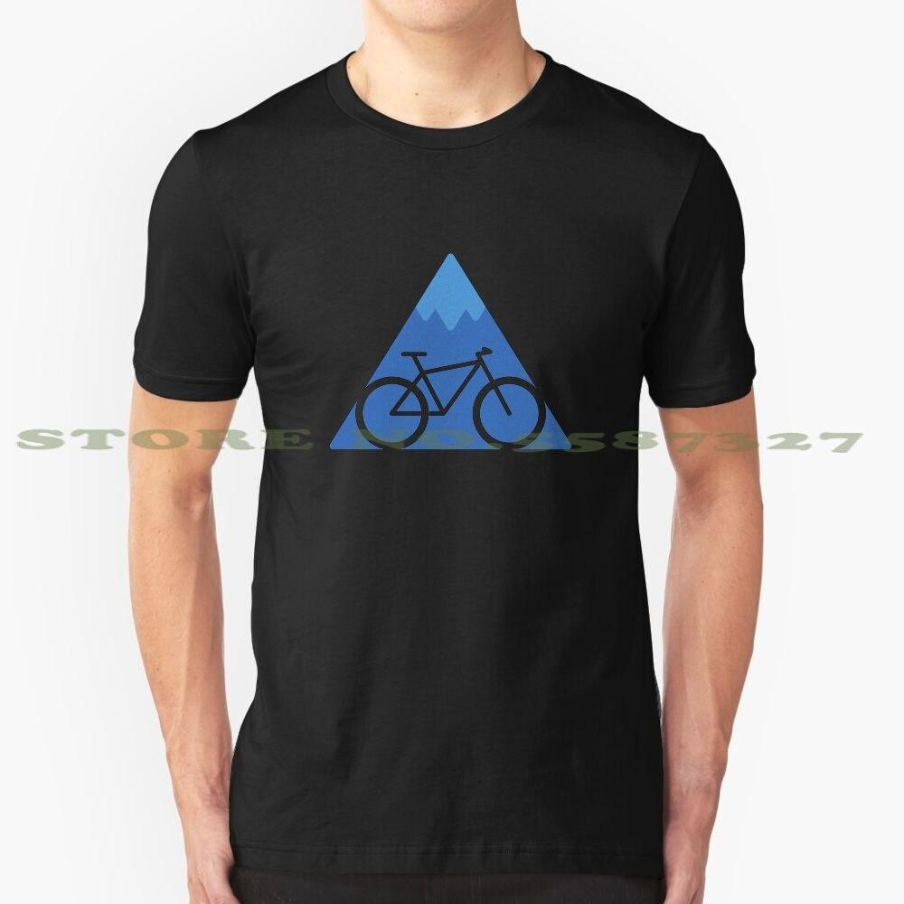 Camiseta de diseño moderno fuera de la pista golpeada, bicicleta de montaña, aventura, deportes extremos, ciclismo, naturaleza, explorar al aire libre