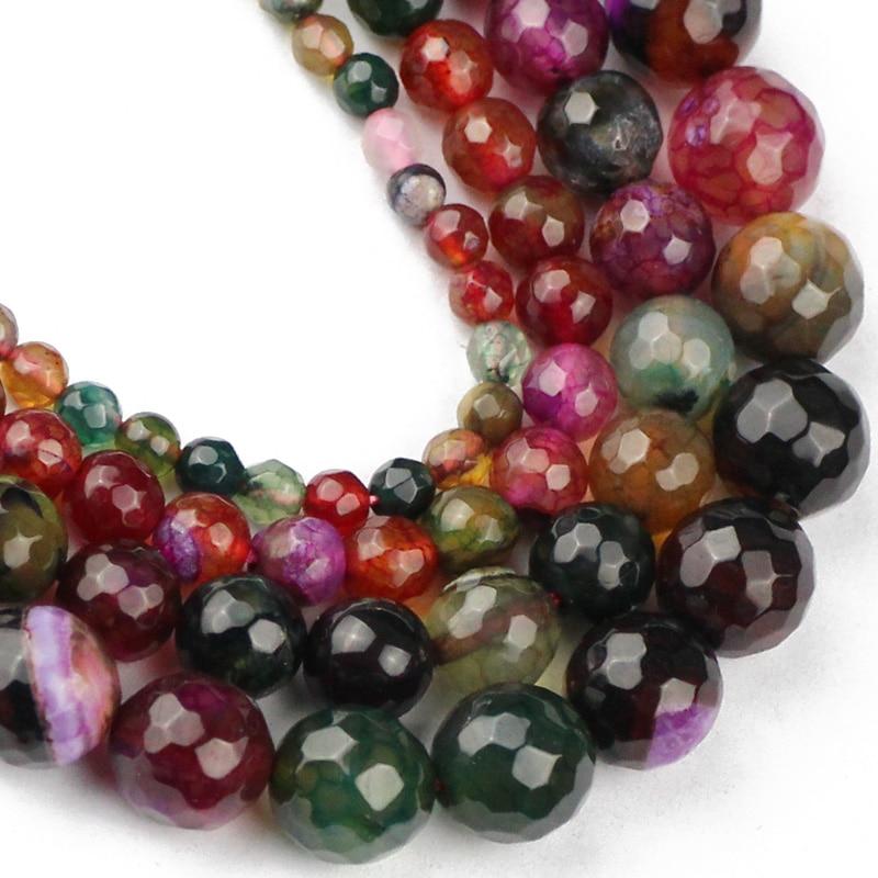 YHBZRET натуральный турмалин, граненый камень, свободные бусины для изготовления ювелирных изделий 4/6/8/10/мм, аксессуары для браслетов и ожерели...