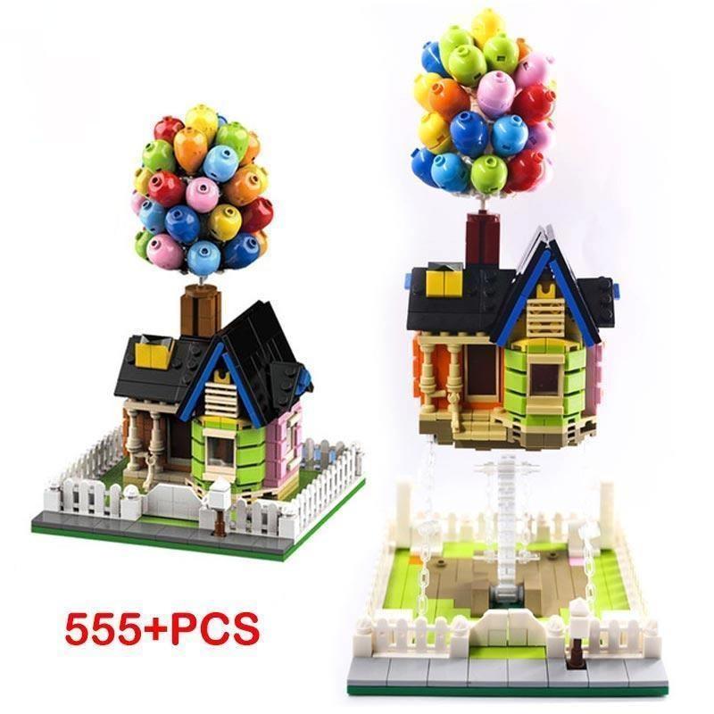 Подвесной гравитационный воздушный шар, Летающий дом, строительные блоки, креативные скульптуры, динамическая физика, баланс, новые игрушк...
