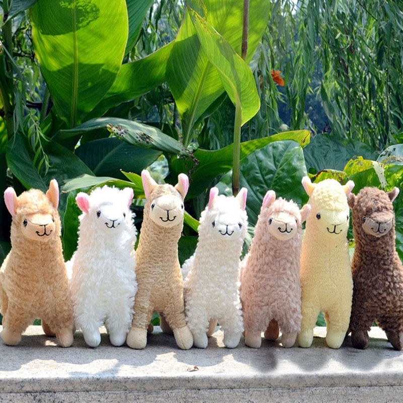 Лама-альпака 23 см, плюшевые игрушки для детей, мягкие куклы-животные, мягкие игрушки, мягкие плюшевые игрушки, подарок на день рождения, укра...