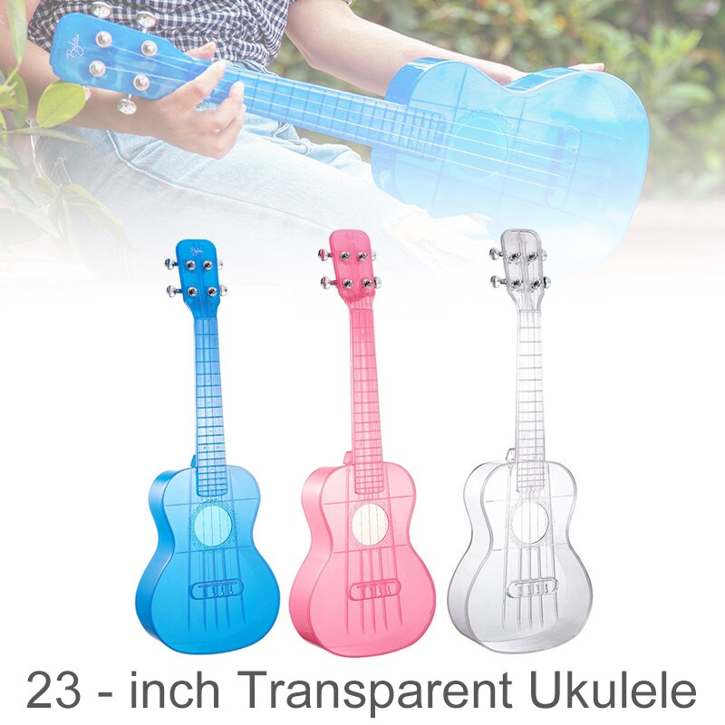 23 Inch Concert Ukulele Transparent PC Material Integral Unibody Lightweight Candy Colored 4 Strings Guitar enlarge