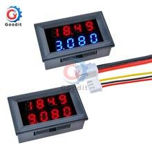 Voltmètre cc numérique ampèremètre 4 bits 5 fils cc 100V 200V 10A tension courant ampèremètre LED dalimentation double affichage compteur