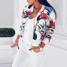 Leopar baskılı kadın ceketler artı boyutu ceket o-boyun uzun kollu kısa bombacı ceket rahat ceket Tops kadın bahar 2019
