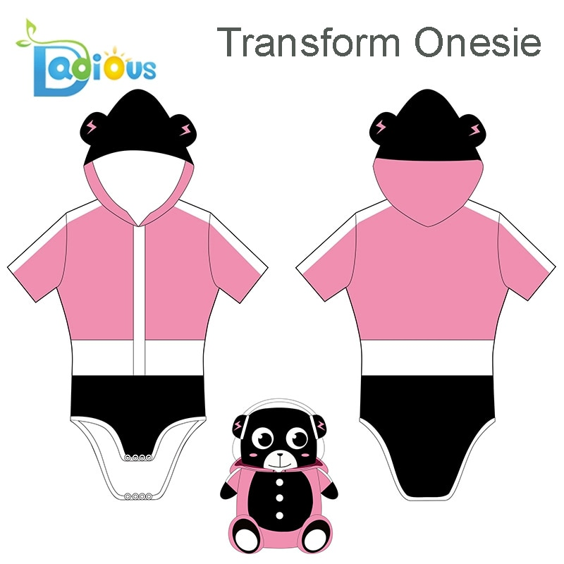 Transform Adult Onesies Pajamas Cute ABDL Women Pajama Short-sleeved Causal Cotton Romper DDLG enlarge