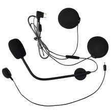 FodSports Motorcycle Helmet Intercom Parts M1S Pro Accessories Wireless Bluetooth Headset Earphone Speaker Hard/Soft Microphone