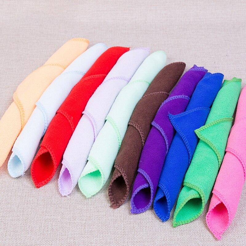 1 Uds. 25x25cm Color sólido suave cuadrado toalla de limpieza de coche de microfibra de pelo de Mano Toallas de baño badlaken toalla Toallas Mano