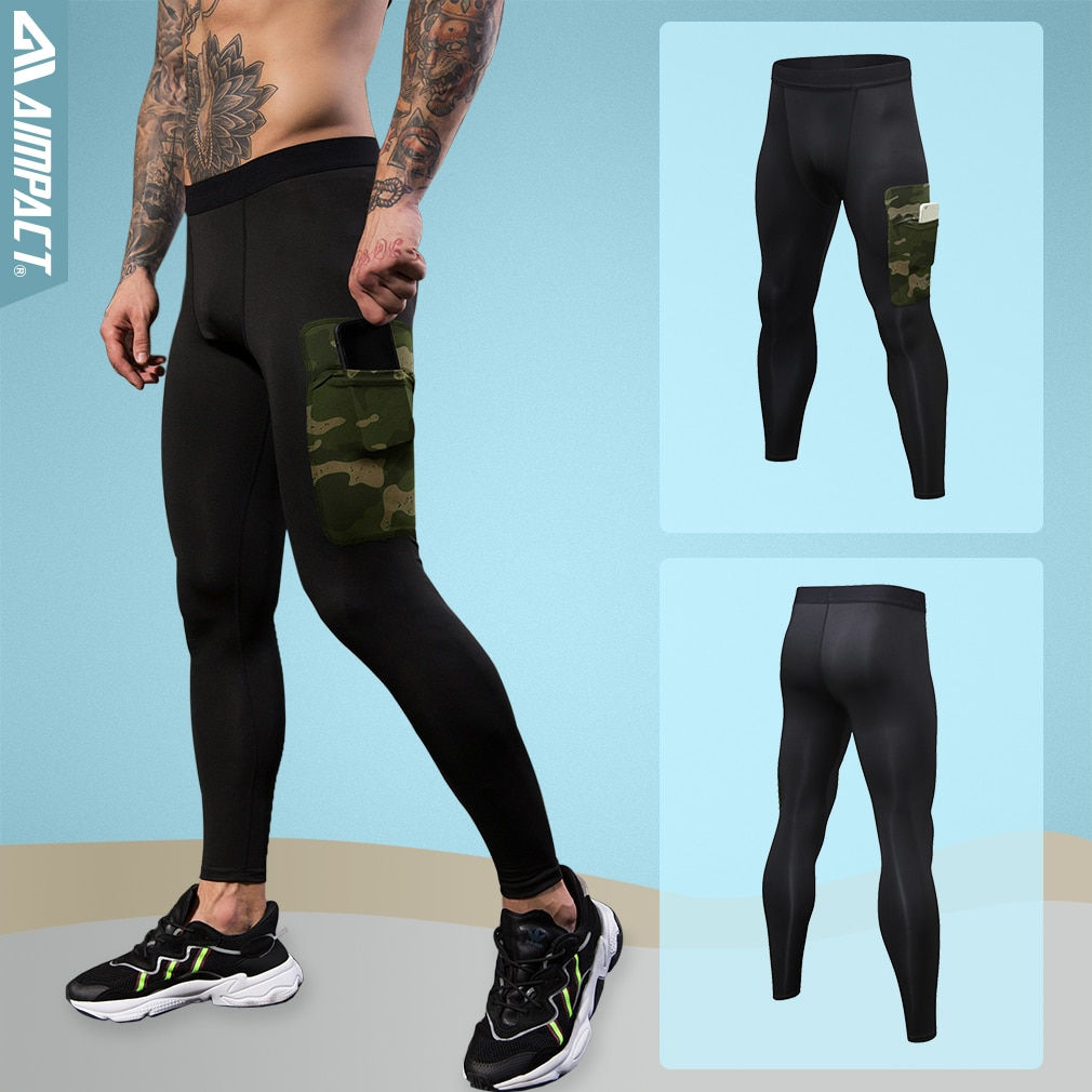 Aimpact Men's  Tight Pants Slim Fitted Active Gymi Pants Crossfit Sporty Runningi Leggings Fitness Men's Workout Pants AM18