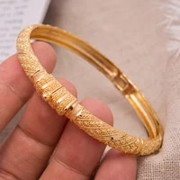 1pcslot 24k dubai crown cuff gold color bangle bracelet fashion can open women man jewelry copper big ring bangle jewelry gift